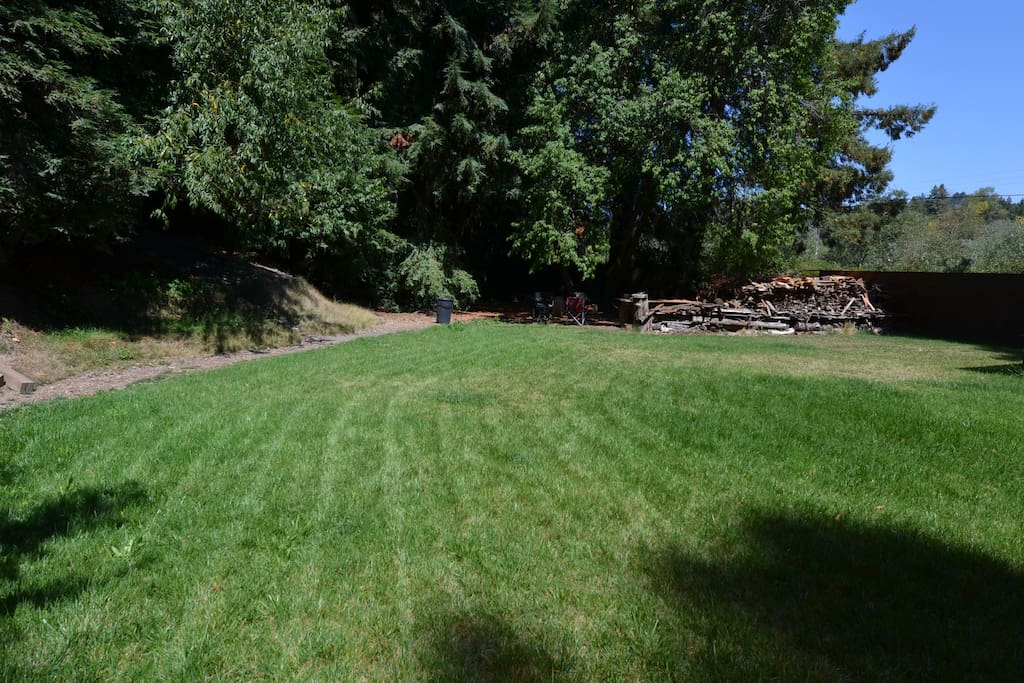 The property is sat on more than 1 acre lot. Rear yard is fenced and Safe