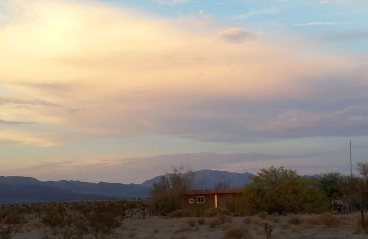 A comfortable home nestled in the peacefulness of the desert.