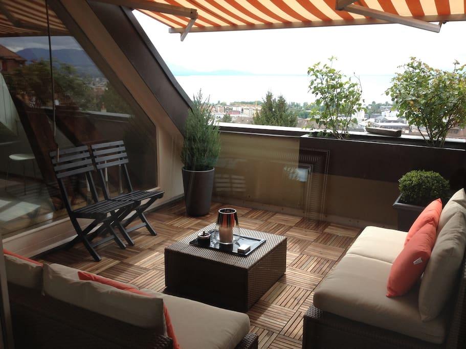 Terrasse + vue