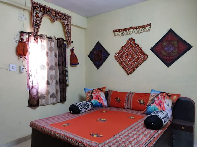 Rajasthani Decor Room With King bed & AC
