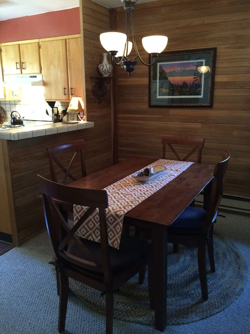 Dining room.  Table opens to sit 8.