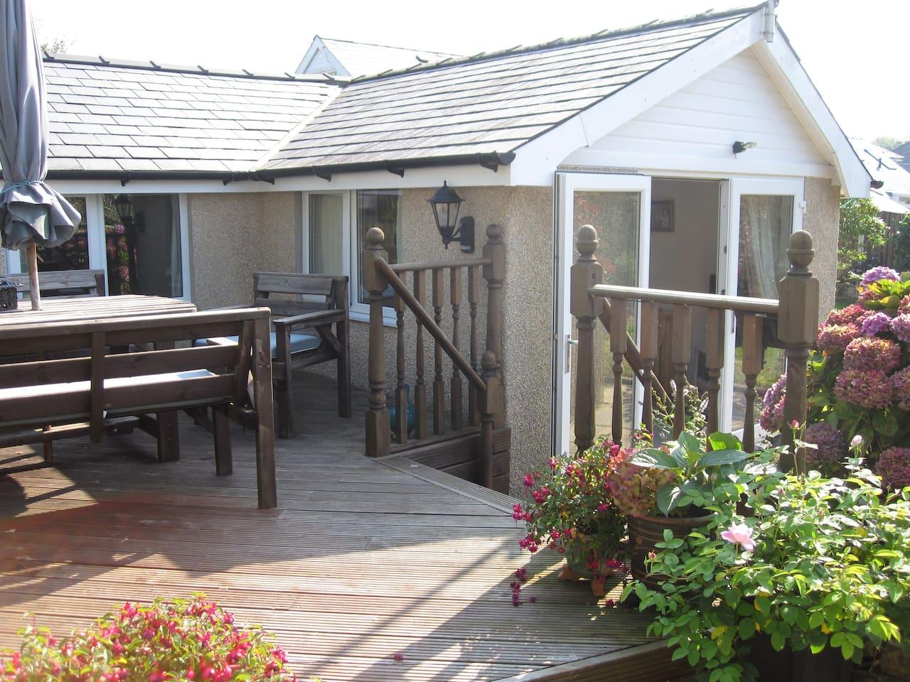 Sunny decking area