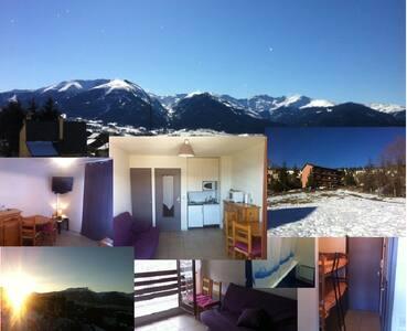 Studio cabine 4 couchages 2 étoiles - Font-Romeu-Odeillo-Via - Apartament