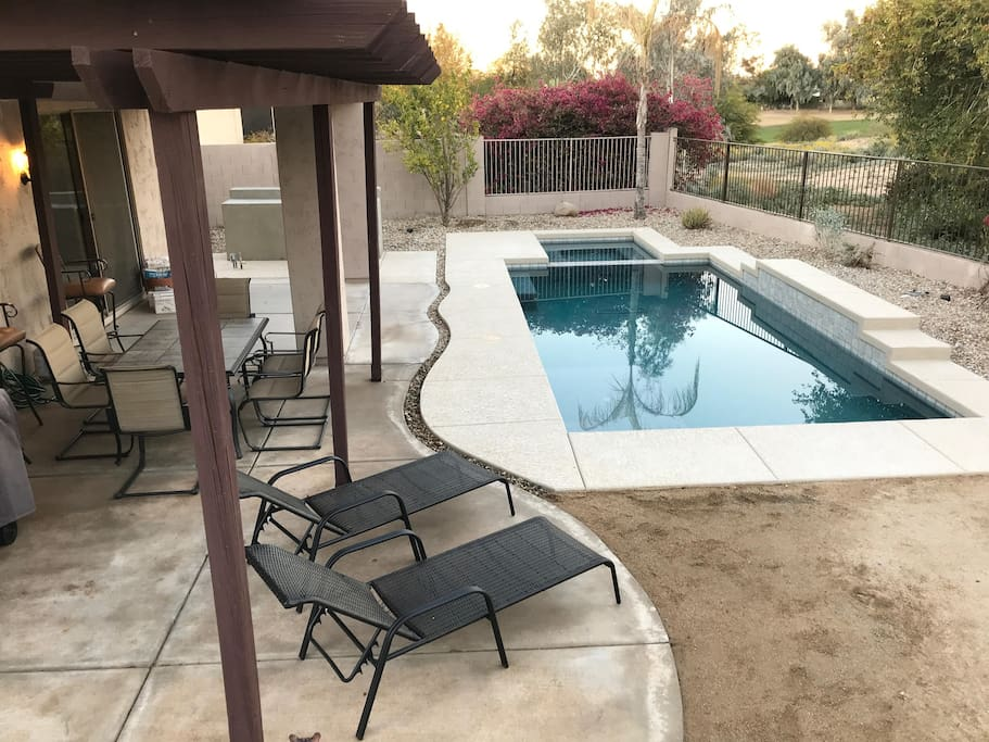 Deck and pool/spa
