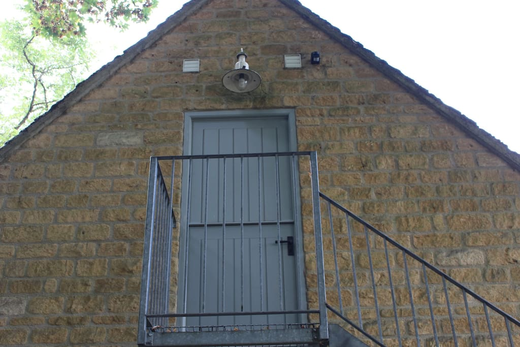 Stair to the Annex stable door.