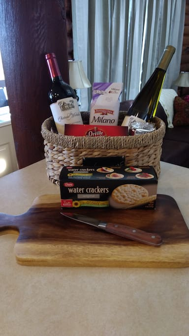 Complimentary Welcome Basket! (Contents Vary - But will ALWAYS be wonderful!)