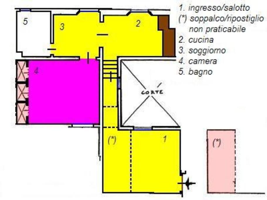 La planimetria dell'appartamento (plan)