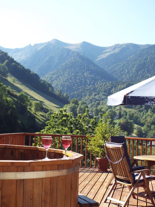Stunning views from the decking. Perfect place to relax and unwind.