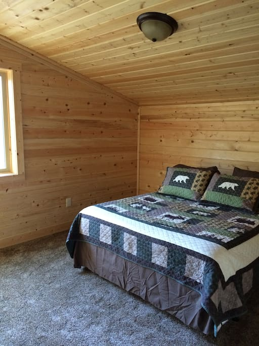 upstairs bedroom with lots of natural light!