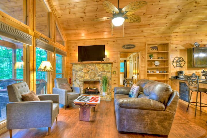 Cozy up near the fireplace with electric heater for extra warm in the winter