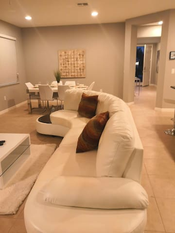 a comfortable  pool home in golf resort