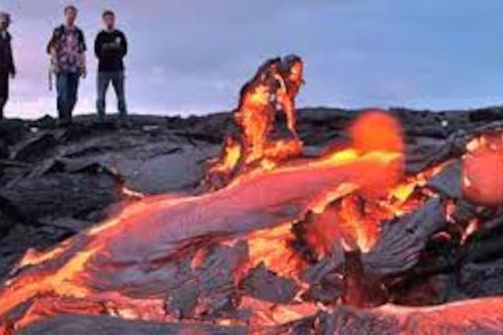 Public lava viewing nearby