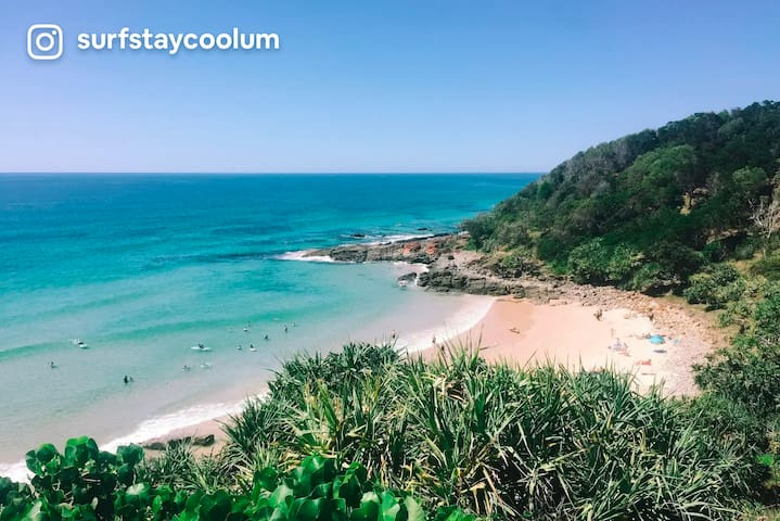 Surfstay Coolum! Heart of Coolum, 40m to the sand!