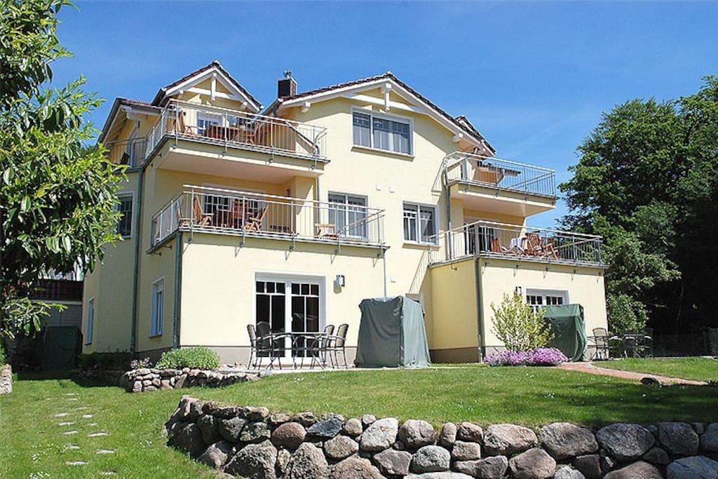 Die Hausansicht Villa am Meer im Ostseebad Sellin auf Rügen