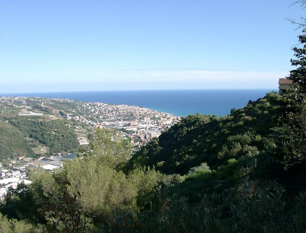 View to the east over Bordighera
