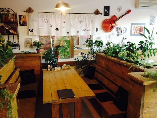 Restaurant, books' table