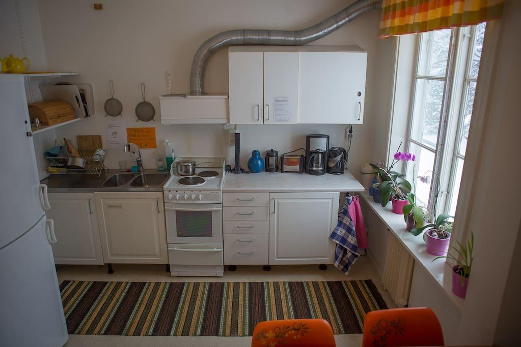 The smaller kitchen