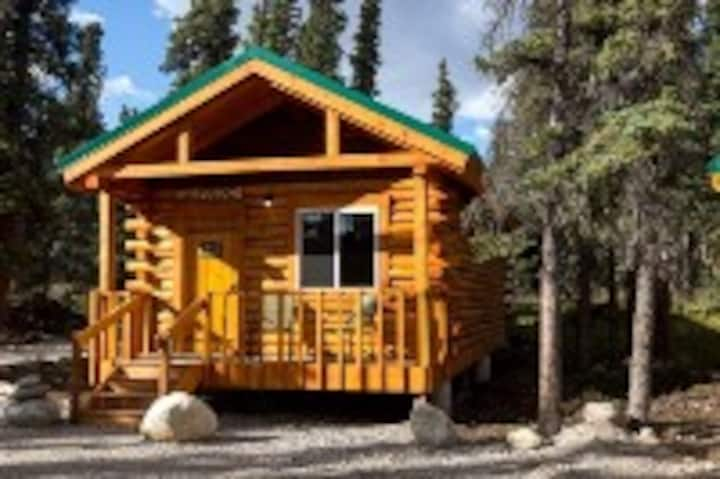 Cozy Spruce Log Cabin