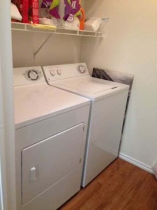 Washer & dryer available to use (door access by kitchen)