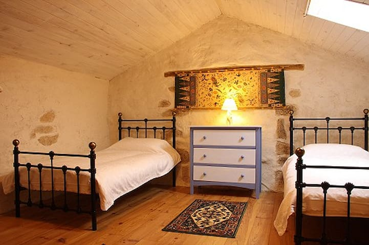 Spacious twin bedded room - cot available on request