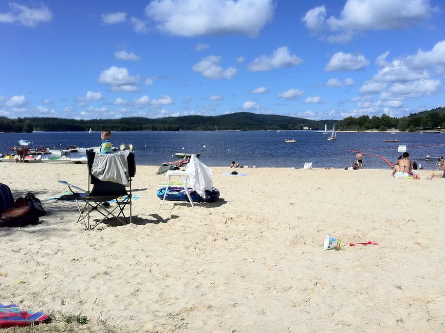 Lac de Vassiviere with its many beautiful swimming beaches within 20km.