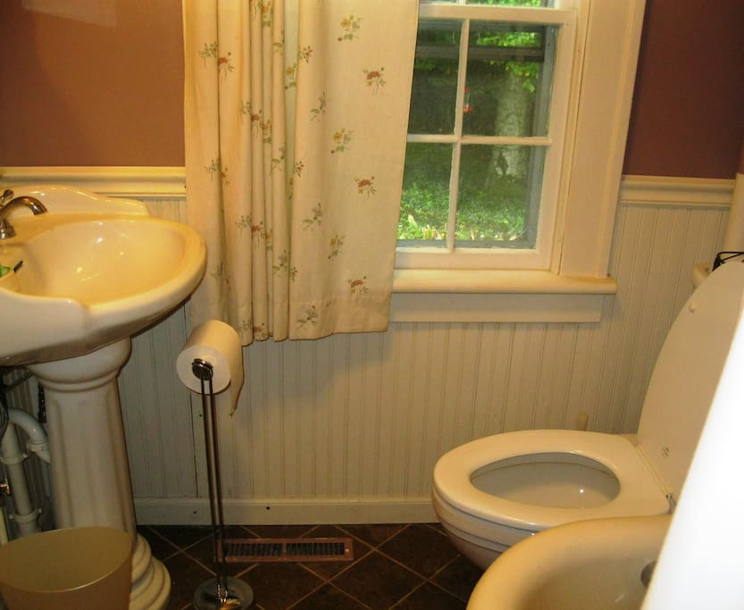 Your bathroom also has a claw-foot tub and a shower.