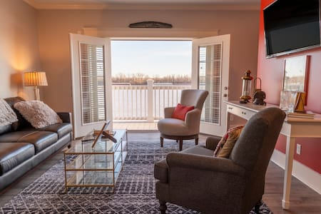 Renovated Riverfront Apartment with Elevated Deck