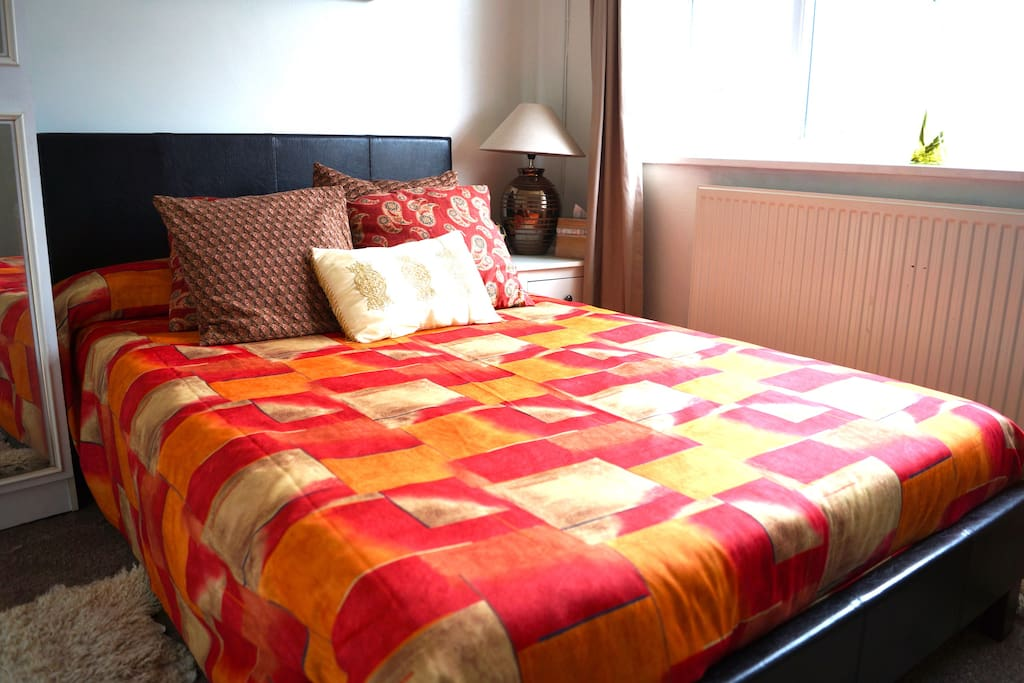 nice  and comfortable double bed
