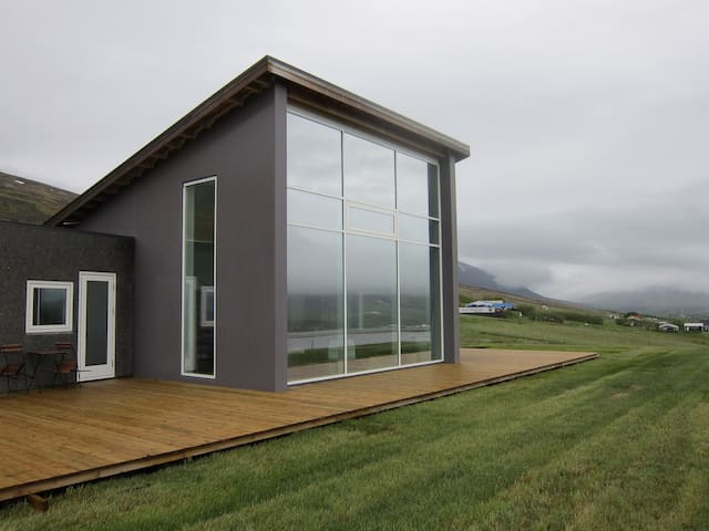 The newly built house in the slopes of Vaðlaheiði