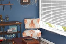 Take a seat, read a book, or open the blinds and enjoy those poolside while you relax in the AC.