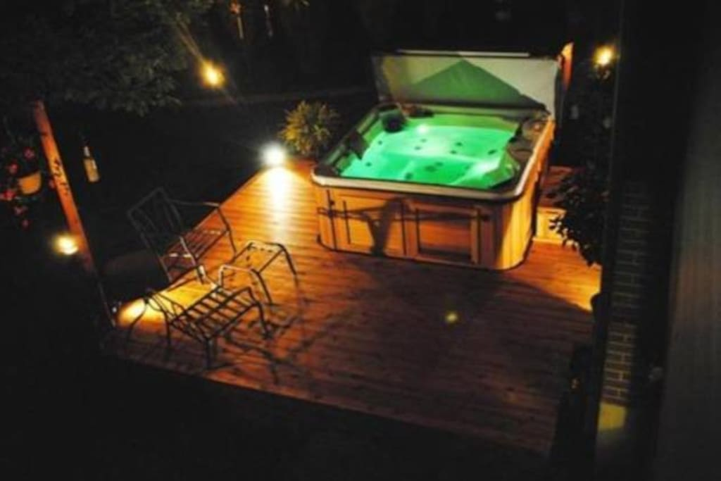 Luxury awaits...right in the back yard. 5 person hot tub, perfect for any time of year.