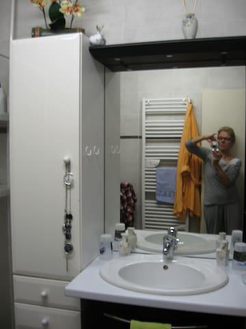 Salle de bains - espace lavabo