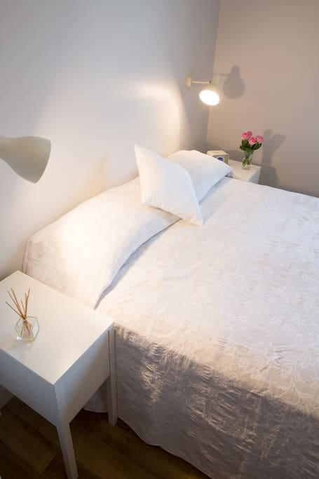 Beautiful spanish bedding along with a quality mattress makes for a very comfortable nights sleep.