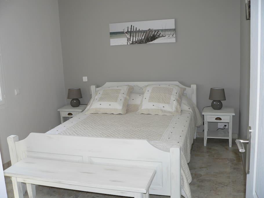 La chambre avec 1 lit en 160