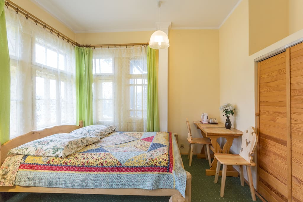Room w/double and single beds. Accommodation for 2-3