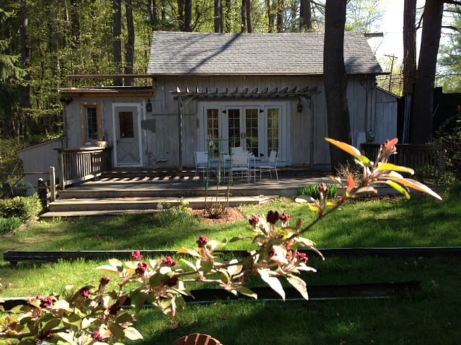 Your cottage, your deck!  Sip a glass of wine in the evening, and enjoy the cottage garden.