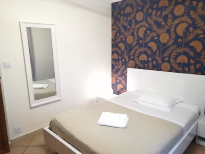 Chambre avec tout le confort d'un appartement