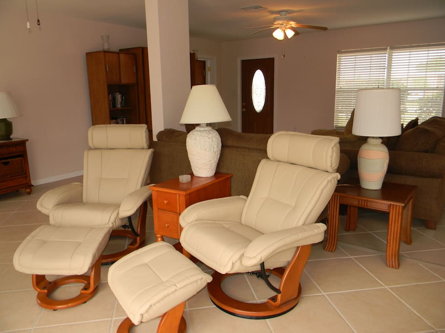 Seating area in open concept.