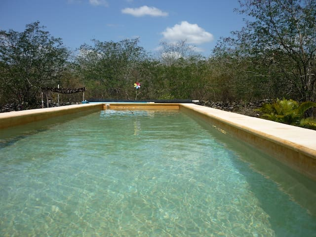 pool filled with well water
