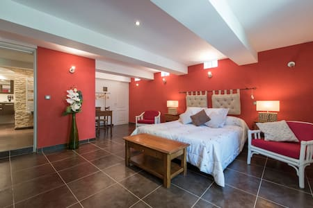 Chambre spacieuse  lit de 160 - Entrevaux - Bed & Breakfast