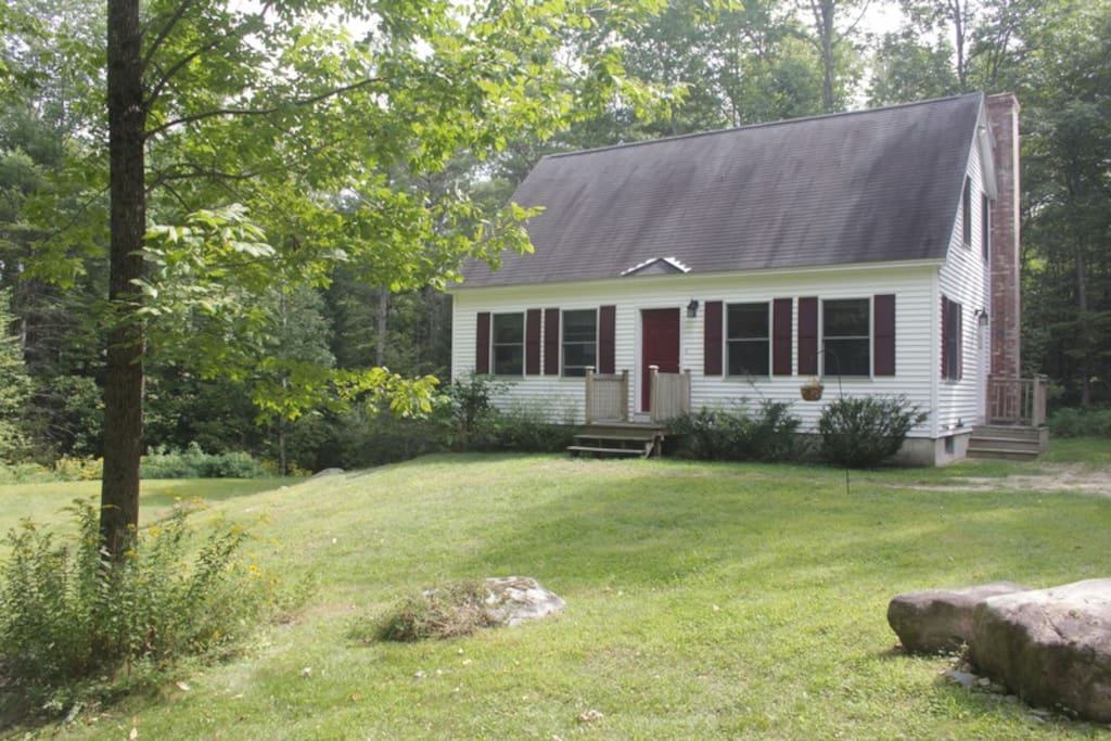 A private house all to yourself, quiet and cozy, set back in the Maine woods.