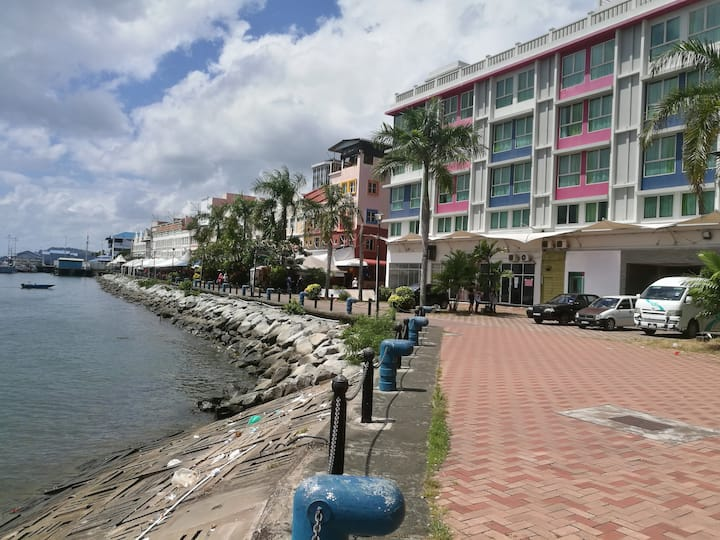 3 Sea view  Sandakan CPD City Centre Backpackers