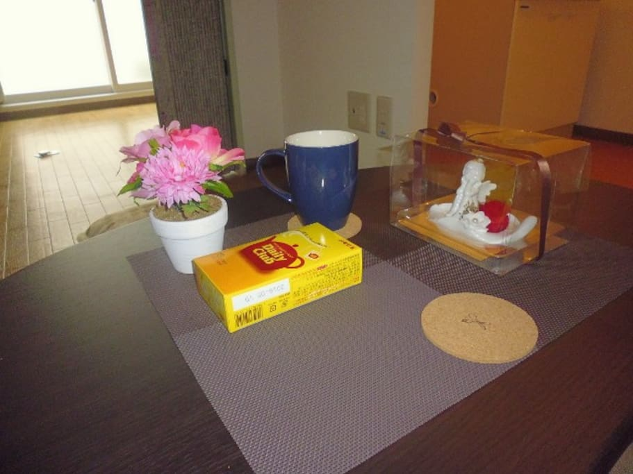 Enjoy Japanese Tea, get hot water from electric kettle.