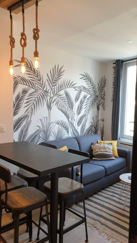 """""""Le Clem"""" appartement cosy Mers les Bains"""