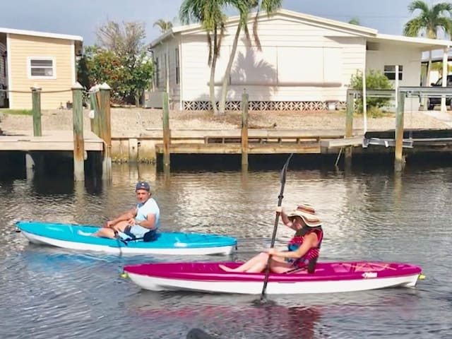 Enjoy a kayak ride - available for free to our renters- see manatees and dolphins on your ride or just fish right from your kayak.