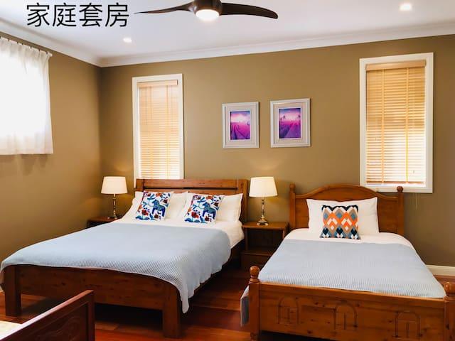 黄海星家庭套房The bedroom