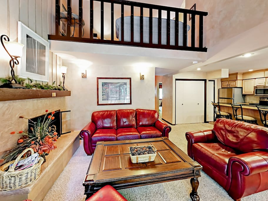 A relaxing loft area overlooks the main living area.