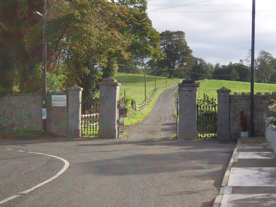 Entrance to Castlehamilton Estate