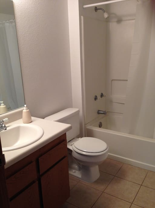 Enjoy your private bathroom! We provide towels, shampoo, conditioner and soap for your convenience