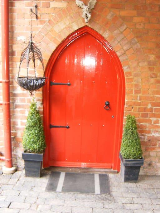 Gothic entrance door